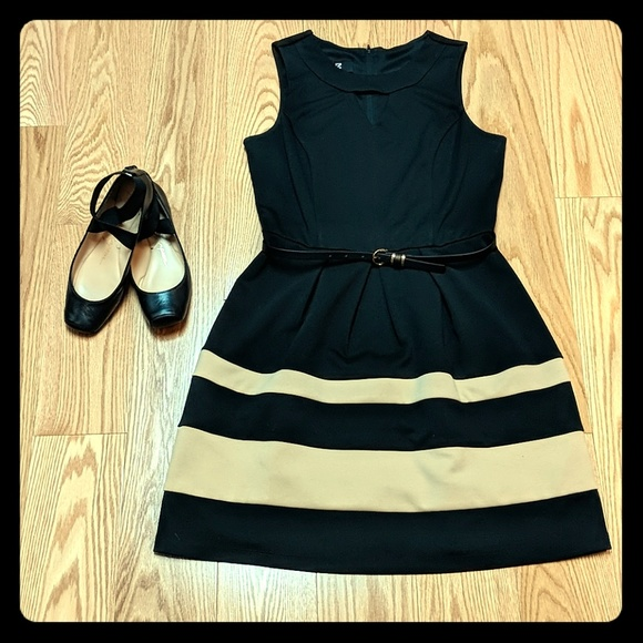 Iz Byer Dresses & Skirts - Tan and black dress
